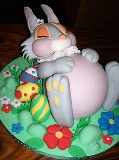 sleeping rabbit cake