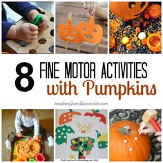 preschool fine motor activities for fall from Teaching 2 and 3 Year Olds