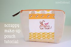 Scrappy make-up pouch tutorial