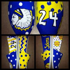 Sports Team Mascot Painted Toms  by SweetHeartShoes on Etsy