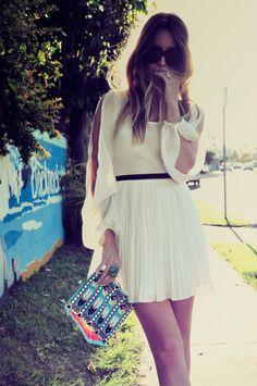 Fun flirty little white dress.