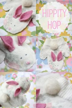 How To: Bunny Hand Puppet from an old sweater