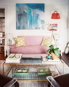 pink and blue interior