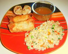 Easy Chicken Egg Rolls {they were tonight's dinner and SO good. The only change I made was using just one bag of coleslaw mix instead of two, and omitting water chestnuts}