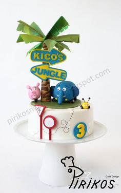 Jungle Junction jungles, jungle junction cake, cake idea, cakes, cake design, birthday idea, jungl junction, jungl cake, anim cake