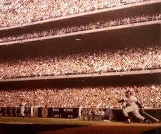 Willie Mays hitting at Dodger Stadium in 1962