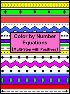Kids love Color by Numbers!  They will really enjoy this Aztec patterned one.   In this activity students will solve multi-step equations involving only positive whole numbers. They will be required to distribute and combine like terms.  CCSS 8.EE CCSS A-REI