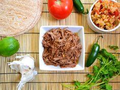 shredded taco beef - for enchiladas