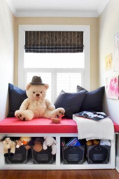 For Their Bedroom: Window Seat - Genius Toy Storage Solutions You Can Make on HGTV