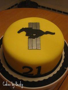 Yellow Mustang cake