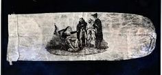 18th century condom with ribald scene of nun and priests