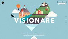 Visionare - Site of the Day June 02 2014. I don't always like scroll animations, but I think this one executes it well. ZNot to mention the images are purty.