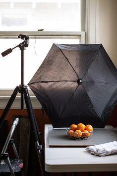 Food Photography Tip 1 | use a black umbrella to create shadows