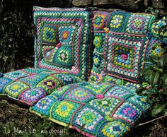 Crochet Comfy Chair Cushions