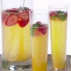 Simple Strawberry, Lemon and Basil Mimosa Recipe - Key Ingredient