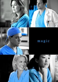 The original five, Meredith, Alex, George, Izzie, and Cristina:) friends, foods, season, grey anatomi, art, greys anatomy, blues, black, alex o'loughlin