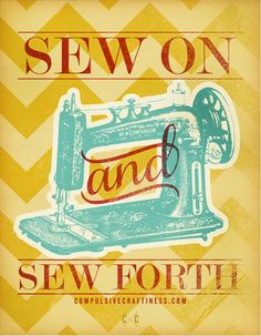 Free Printable Poster – Sew On & Sew Forth