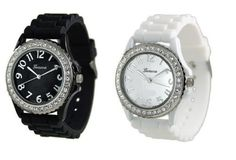 White Black 2 Pack Geneva Crystal Rhinestone Large Face Watch with Silicone Jelly Link Band Watch Review - At Amazon Products Reviews, the privacy of our visitors is of extreme importance to us (See this article to learn more about Privacy Policies.). This privacy policy document outlines the types of personal information is received and collected by Amazon Products Reviews and how it is used.Log... - http://thequickreview.com/white-black-2-pack-geneva-crystal-rhinestone-larg