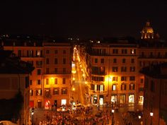 View from the top of the Spanish Steps, Rome