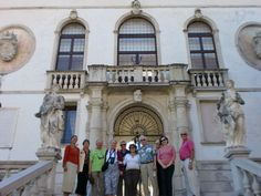 Sarasota Sister Cities Delegation on steps of the Collalto Castle in the alpine foothills of Treviso Province in 2010