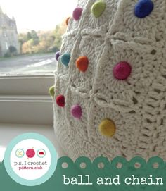 Ball and Chain Square ~Pattern available