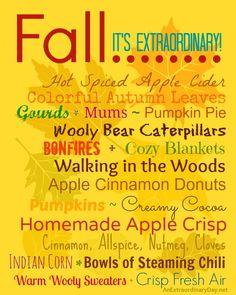 #FallNestingSeries ~ 20 Things I Love about Fall :: AnExtraordinaryDay.net