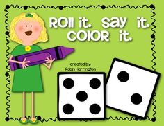 FREEBIE!! Dice Game: {Roll It. Say It. Color It.}