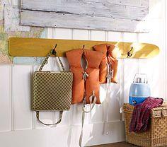 Water-ski Hook Rack #PotteryBarnKids