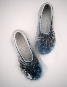Felted slippers Frozen suns for Her