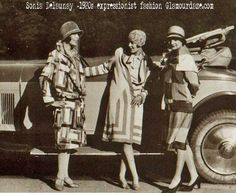 Sonia-Delaunay-1920s-expressionist-fashion.#Downton #Fashion #Era