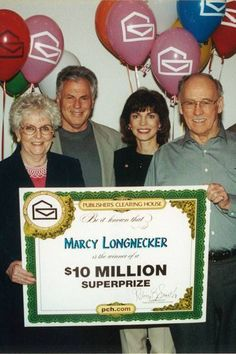 """When I saw this photo I couldn't wait to share it (Smiles) ...Now that's a """"Throwback Picture"""" Love it !....Deborah Holland from Publisher's Clearing House shared and she says.......Here's a throwback to 2002 in honor of today's PCH Blog feature of the #PCH Prize Patrol """"Then and Now."""" I've enjoyed working with Dave Sayer PCH Prize Patrol all these years...PCHBlog"""