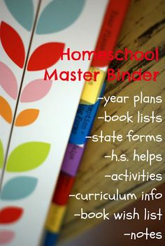 homeschool master binder