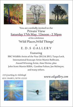 "Jane Gardiner. ""Wild Places, Wild Things."" Group Show at E.D.S. Gallery. May 17th-June 15, 2014."