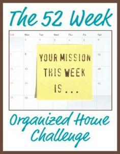 52 weeks home organization challenge