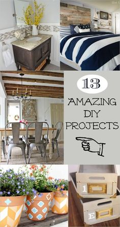 Bloggers come up with the best stuff! 13 amazing DIY projects from complex room reveals to easy and simple crafts. Great collection.