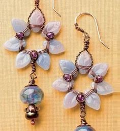 Make Jewelry for Summer: Free Jewelry Designs Inspired by Summer Colors - Monet's Flowers earrings by Melissa Meman