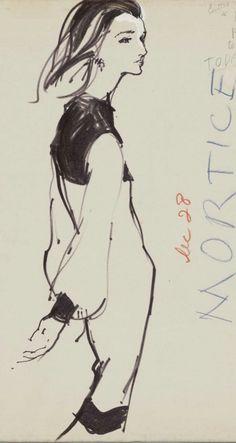 By Kenneth Paul Block, 1 9 7 0s, Model Lee Bouvier Radziwell,  Women's Wear Daily.
