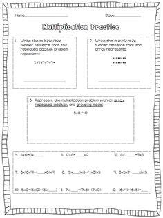 Multiplication Practice FREE Worksheet