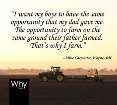 """Agriculture: 365 sunrises and 7 billion mouths to feed."" That's the theme of this year's National Ag Week. In honor of all farmers, farm families, farm wives, farm children, and those that serve the agriculture industry, THANK YOU! - Via Beck's Hybrids on www.beckshybrids.com/Blog farm famili, farm children, farmer, mouth, farm wives"