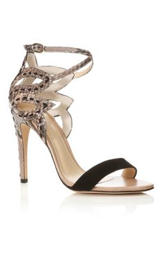 LOVE this Alexandre Birman Black Flora Sandal