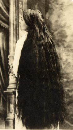 vintage photo long hair