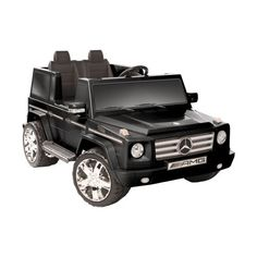 Kid Motorz Mercedes Benz G55 AMG Two Seater Battery Powered Riding Toy - Black  Zoey