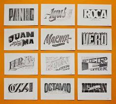 Letter INC. / Original Artworks by Yani Arabena & Guille Vizzari, via Behance