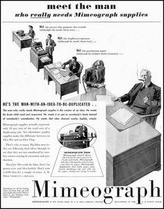 Mimeograph Ad.