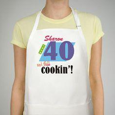 Still Cookin Apron 40th Birthday Apron #birthdaygifts #birthdaypresents #40th #giftideas