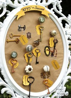 """Keys to Success Grad party - beautiful and classy. """"Key"""" theme could be applied to other occasions as well."""
