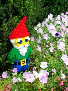Garden Gnome LEGO sculpture  #lego #legosculpture #gardengnome #gnome #legomodel