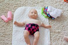 felt baby doll diapers - diy, no sew....