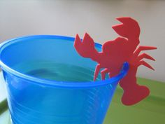 cup craft pool parties, summer parties, diy cup, cup markers, dollar store crafts, homemade crafts, foam crafts, craft blogs, parti idea