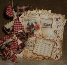 paper bag recipe scrapbook